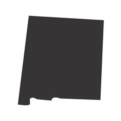 New Mexico State map of US America. Vector Simple Black Maps. Eps 08.