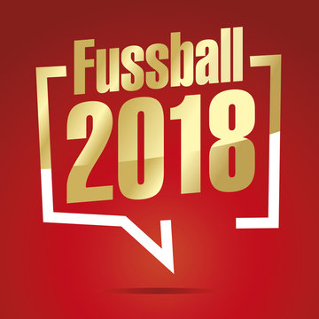 Soccer (German - Fussball) 2018 in brackets gold white red icon