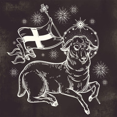 Lamb of God Christian Symbol.