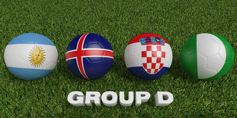 Football World cup  groups d.  2018 world soccer tournament  in Russia.