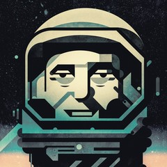 Astronaut portrait in space helmet