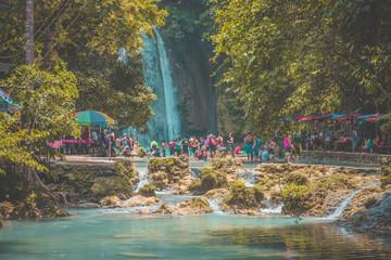 Fotorollo Wasserfalle Waterfall in Cebu, Philippines