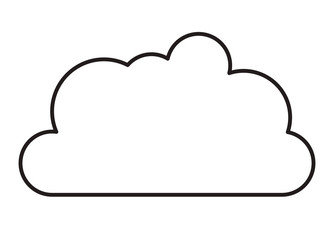cloud sky isolated icon vector illustration design