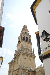 Sight of Bell Tower in Cordoba, Spain