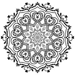 A vintage mandala. Floral decorative elements