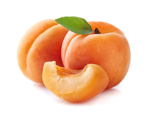 Apricot with slice