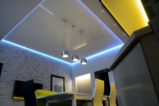ceiling with led light