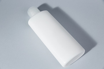 Blank mockup white cosmetic tube package Cream Gel or shampoo. Ready template for your pack design