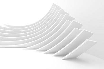 Fotobehang - White Architecture Circular Background. Modern Building Design