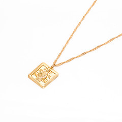 Long  Gold Chain Necklace with Mary Pendent