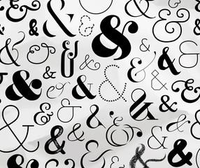 Ampersand symbol pattern