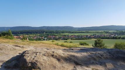 Blick auf  Timmenrode (Harz)