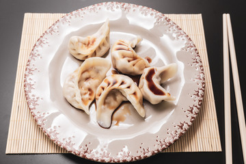 Steamed ravioli are a typical oriental food with many variations