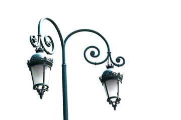 Street light  lantern lamp isolated on white background Fotomurales