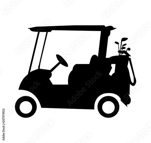 Caddy golf cart silhouette