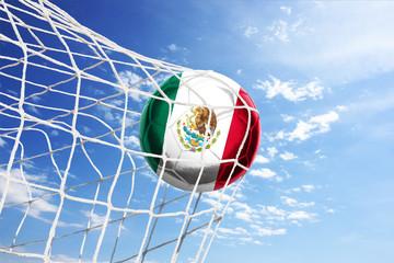 Fussball mit mexikanischer Flagge
