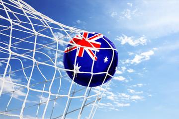 Fussball mit neuseeländischer Flagge