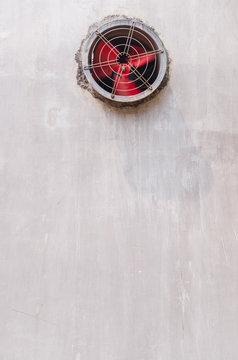 exhaust fan on wall
