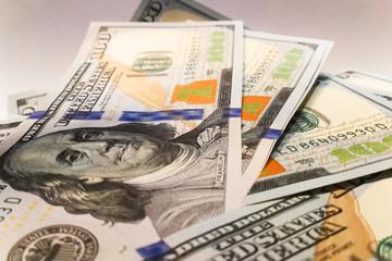 American dollars. Money banknotes. Bill of money dollar bills.