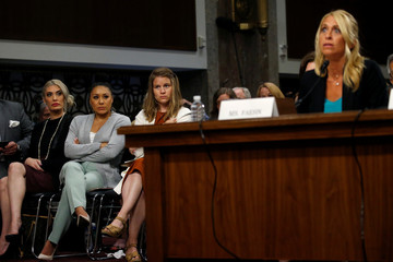 Former USA Women's Gymnastics officials and the former president of Michigan State University testify before the  Senate Commerce, Science and Transportation Subcommittee in Washington