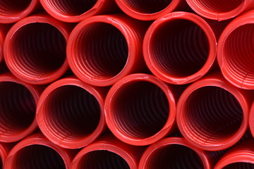 Corrugated pipe for electrical installation