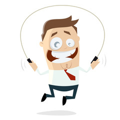 skipping businessman clipart