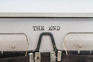 The end is written on paper with typewriter.