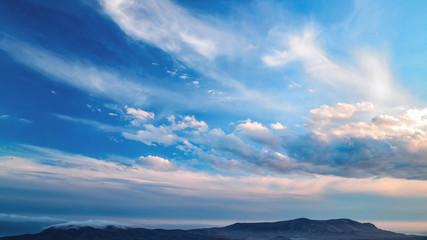 Picturesque landscape of clouds