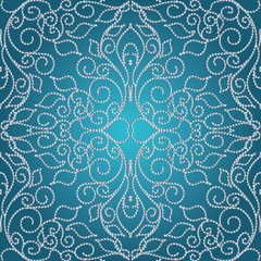 Dotted elegance floral seamless pattern.