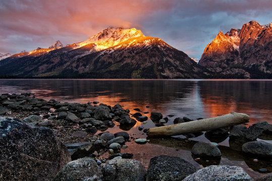 Sunrise at Jenny Lake in Grand Teton National Park