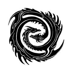 two dragons yin Yan symbol