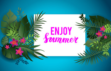 Enjoy summer blue card