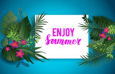 Enjoy summer blue card