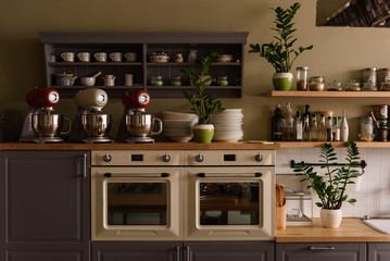 Ovens on restaurant kitchen