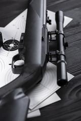 pierced shooting targets