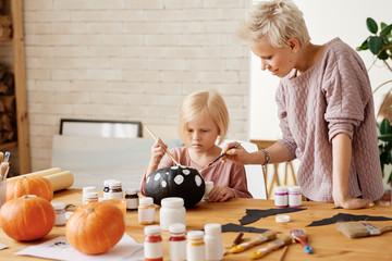 Pumpkin painting for Halloween