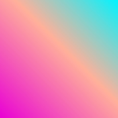 Vibrant background gradient vector in neon spectrum colorful shades: pink, fuchsia, purple, violet, blue, turquoise. Beautiful feminine wallpaper for positive vibes.