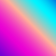 Shiny background gradient vector in neon spectrum colorful shades: pink, fuchsia, purple, violet, blue, turquoise. Beautiful feminine wallpaper for positive vibes.