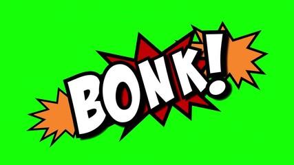 A Comic Strip Speech Cartoon Animation With An Explosion Shape Words Bong Bonk