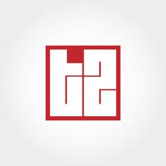 Initial Letter TZ Logo Template Vector Design