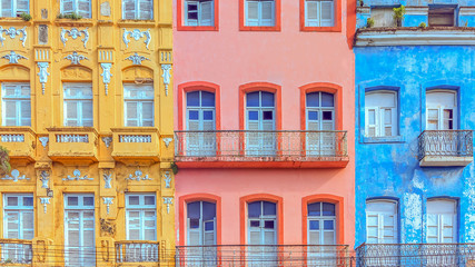 Old and colorful houses from Recife, Brazil