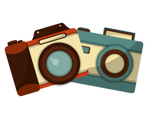 retro cameras photographic icon vector illustration design