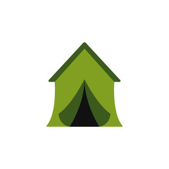 tent colored illustration. Element of camping icon for mobile concept and web apps. Flat design tent colored illustration can be used for web and mobile. Premium icon
