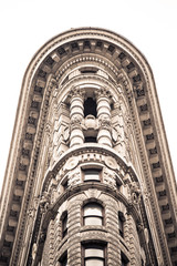 Wall Mural - Details on historic Flatiron Building in New York City