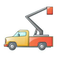 Mini truck crane icon. Cartoon of mini truck crane vector icon for web design isolated on white background
