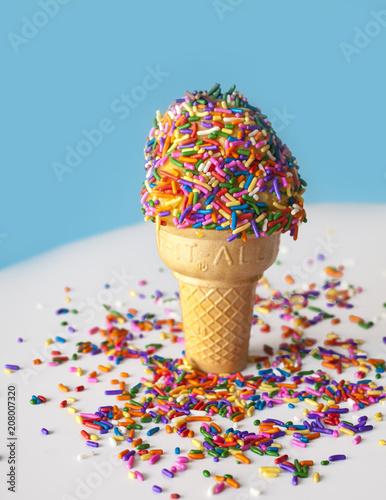Ice Cream Cone with Rainbow Sprinkles