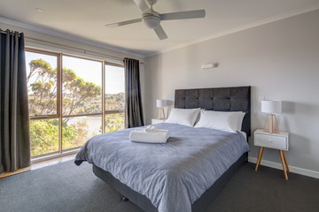 Contemporary bedroom setting