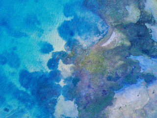 Colorful abstract aerial of the ocean