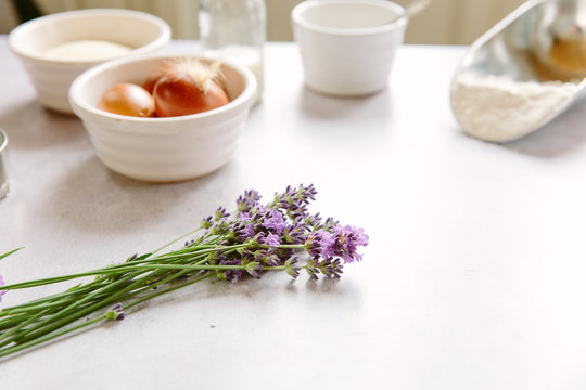 Baking with Lavender flowers
