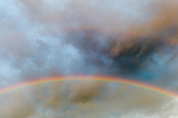 Rainbow?in dark sky